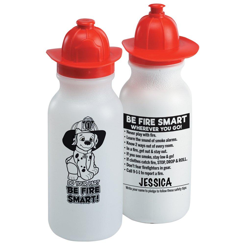 Do Your Part, Be Fire Smart! Fire Helmet Water Bottle 20-Oz. - 10 Per Pack