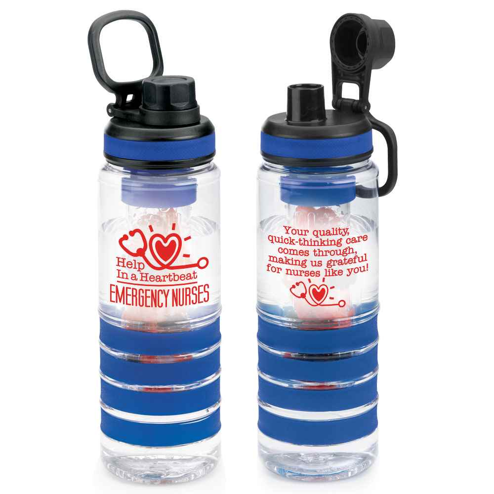 Emergency Nurses: Help In A Heartbeat Fresno Fruit Infuser Water Bottle 24-Oz.
