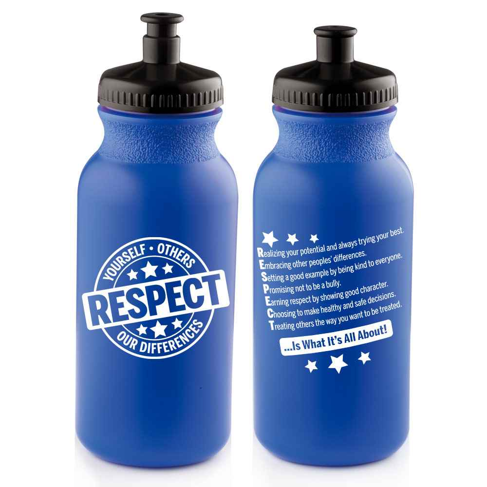 Respect Yourself, Others, Our Differences Water Bottle 20-Oz. - Pack of 10