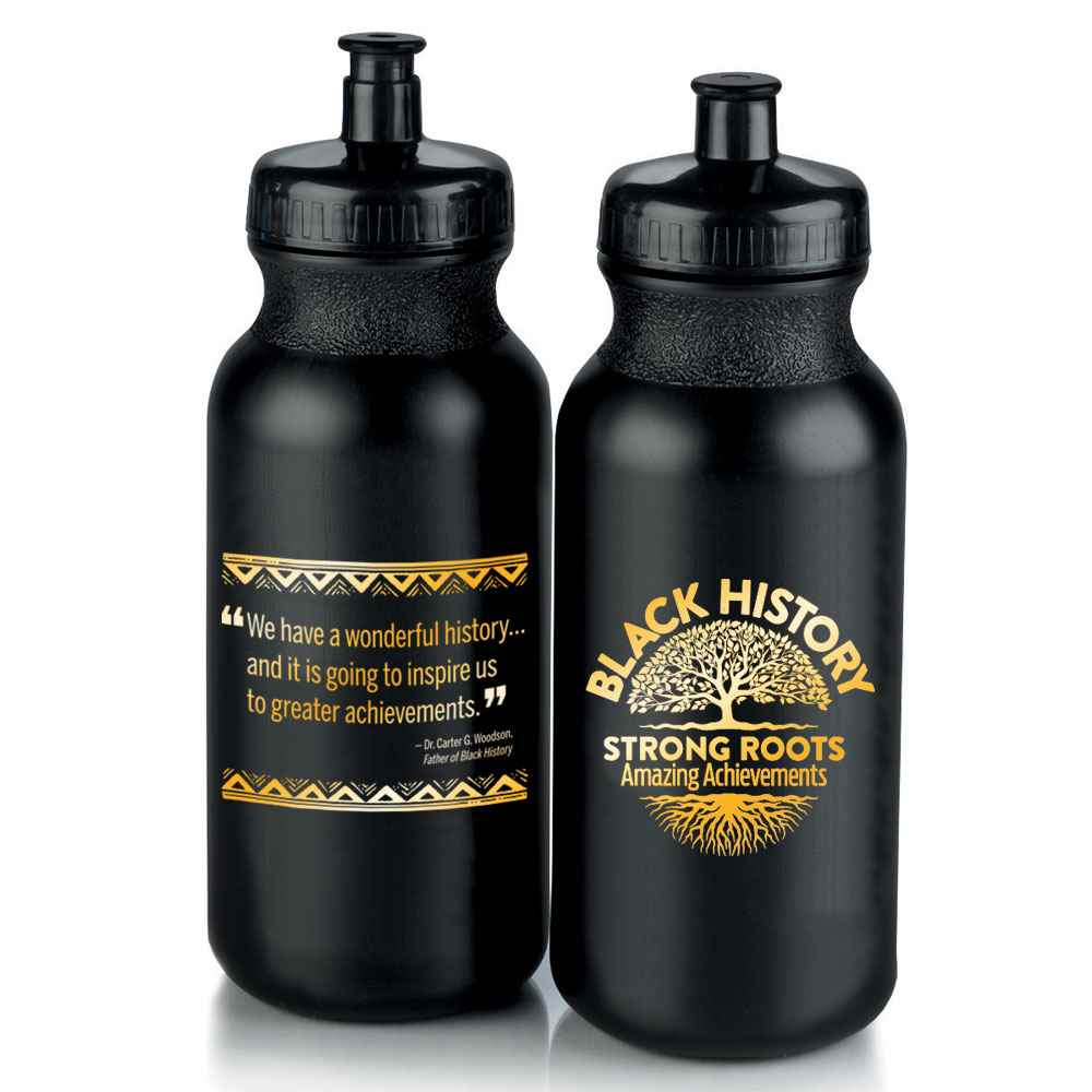 Black History: Strong Roots, Amazing Achievements Water Bottle 20-Oz.
