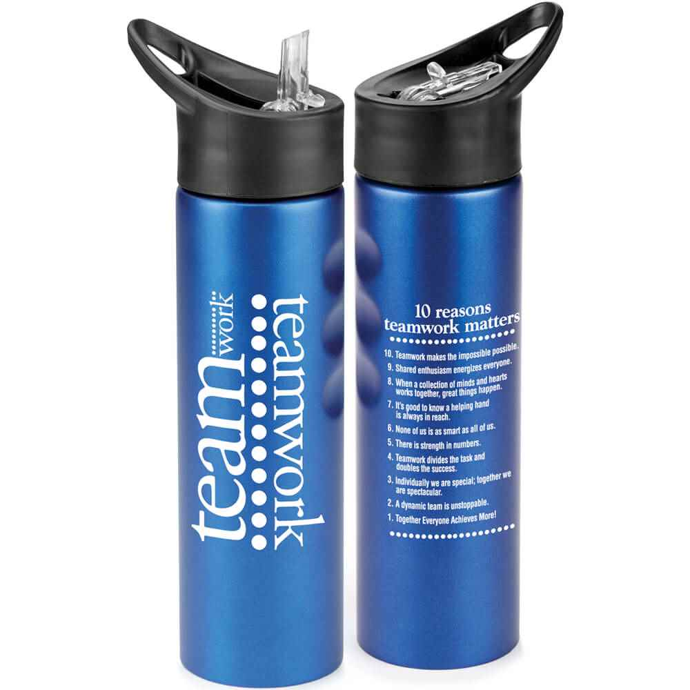Teamwork Essex Stainless Steel Blue Water Bottle 25-Oz.