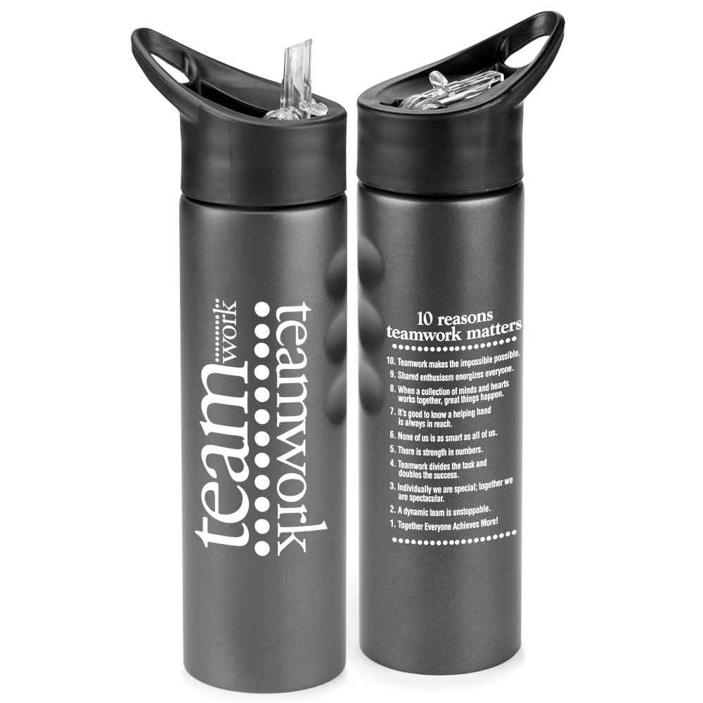 Teamwork Essex Stainless Steel Gray Water Bottle 25-Oz.