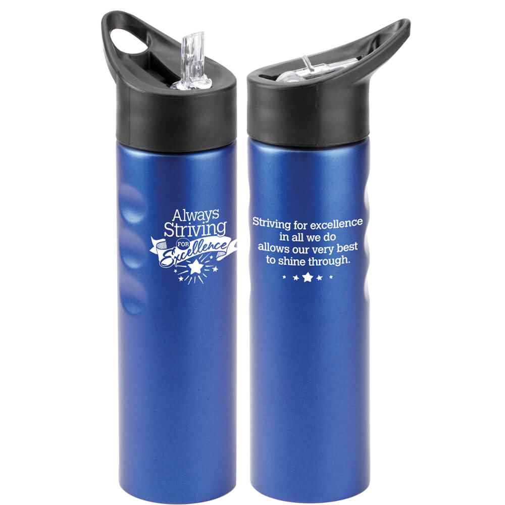 Always Striving For Excellence Essex Stainless Steel Water Bottle 25-Oz.