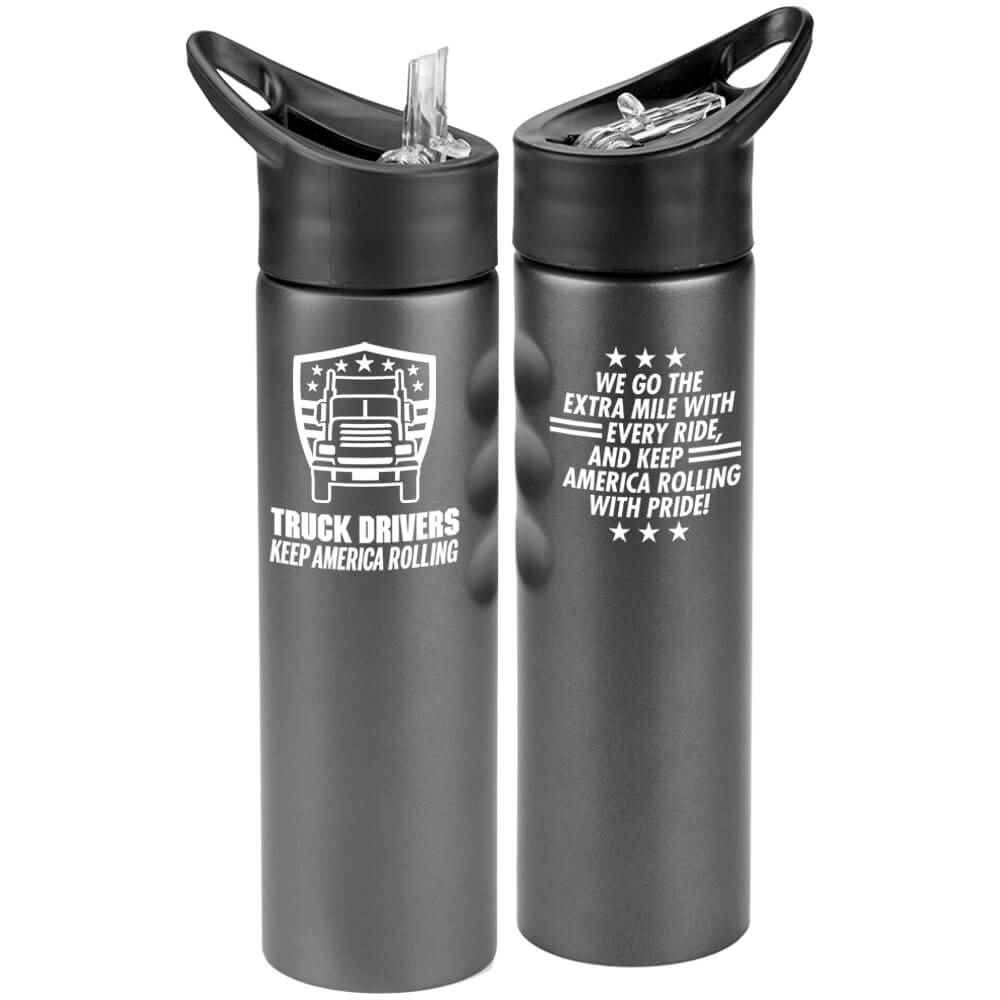 Truck Drivers Keep America Rolling Essex Stainless Steel Water Bottle 25-Oz.