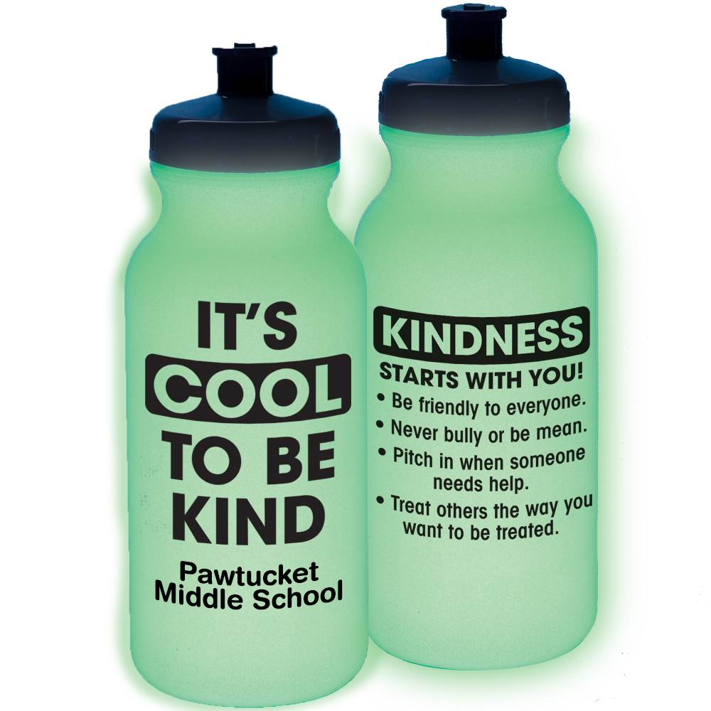 It's Cool To Be Kind Glow Water Bottle 20-Oz.