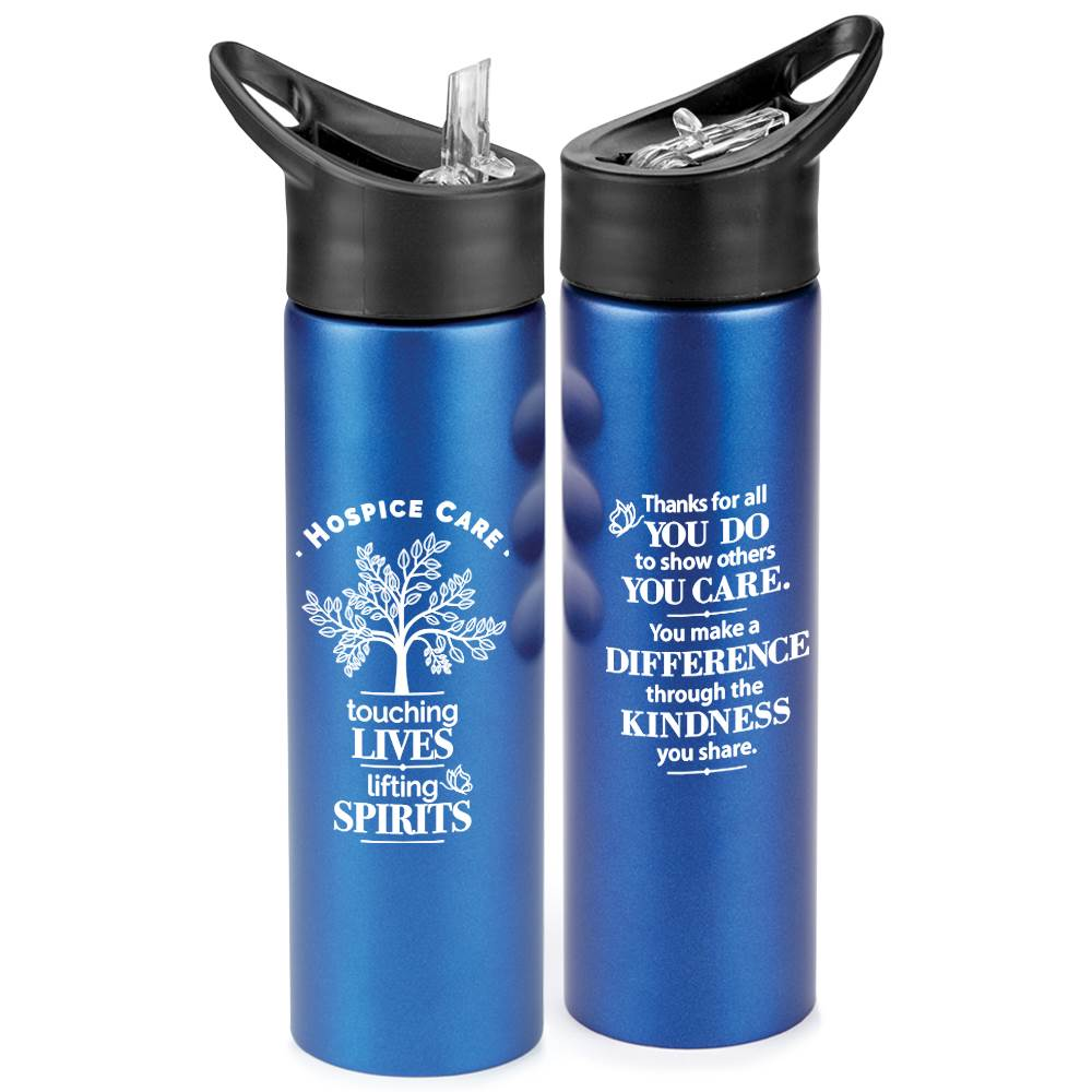 Hospice Care: Touching Lives, Lifting Spirits Essex Stainless Steel Water Bottle 25-Oz.
