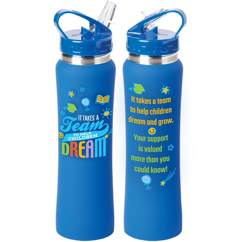 It Takes A Team To Help Children Dream Lakewood Stainless Steel Water Bottle 25-Oz.