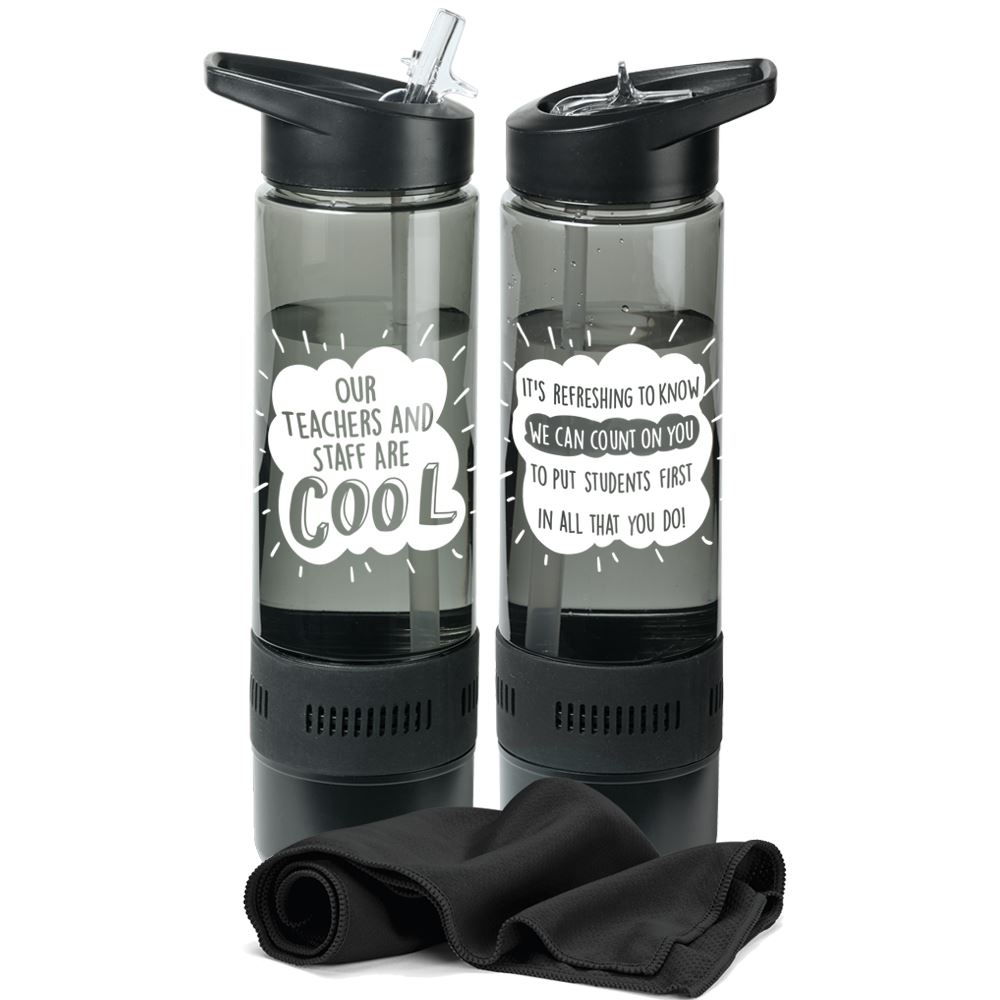 Our Teachers And Staff Are Cool Chill Bottle 17-Oz. With Towel
