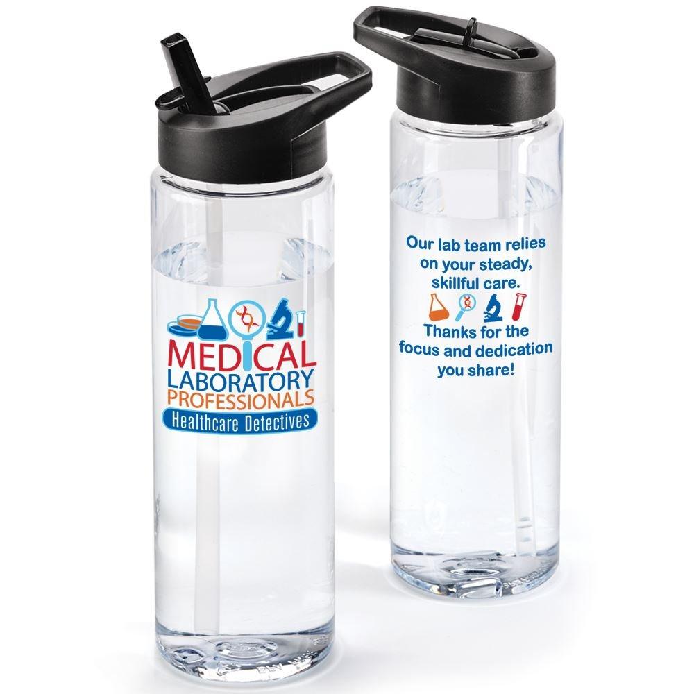 Medical Laboratory Professionals Healthcare Detectives Solara Water Bottle 24-Oz.