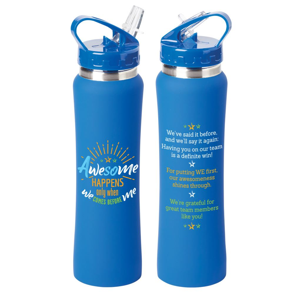 Awesome Happens Only When We Comes Before Me Lakewood Stainless Steel Water Bottle 25-Oz.