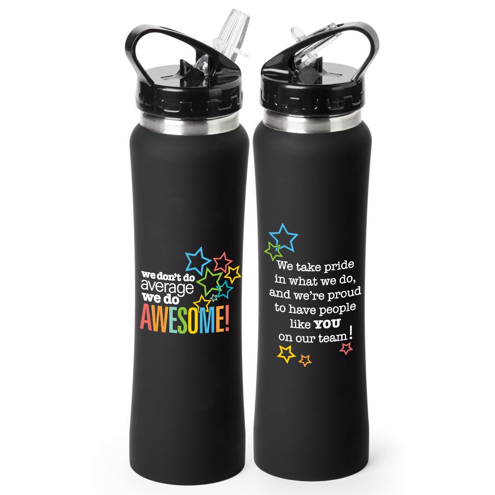 We Don't Do Average We Do Awesome! Lakewood Stainless Steel Water Bottle 25-Oz.