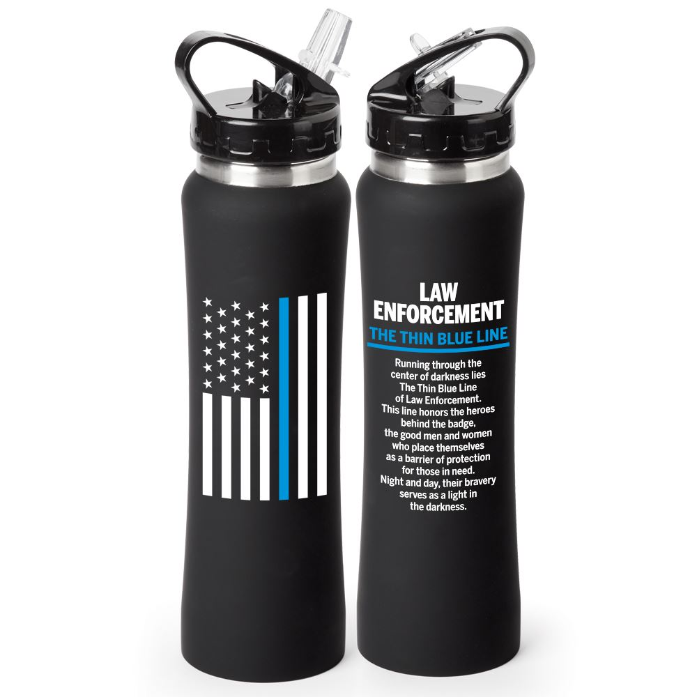 Law Enforcement The Thin Blue Line Lakewood Water Bottle 25-oz.