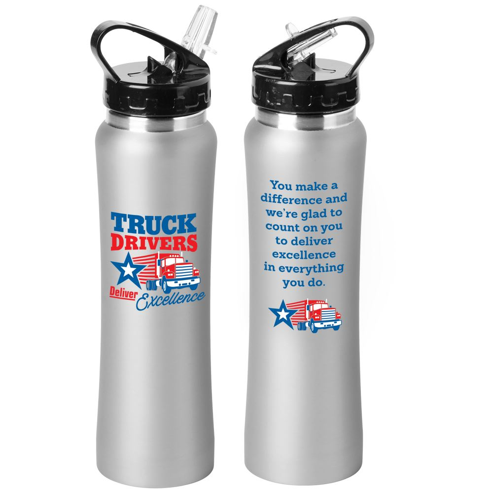 Truck Drivers Deliver Excellence Lakewood Stainless Steel Water Bottle 25-Oz.