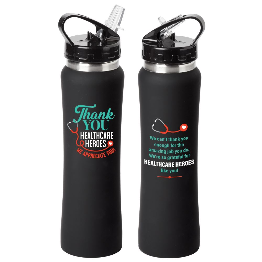 Thank You Healthcare Heroes Lakewood Stainless Steel Water Bottle 25-Oz.