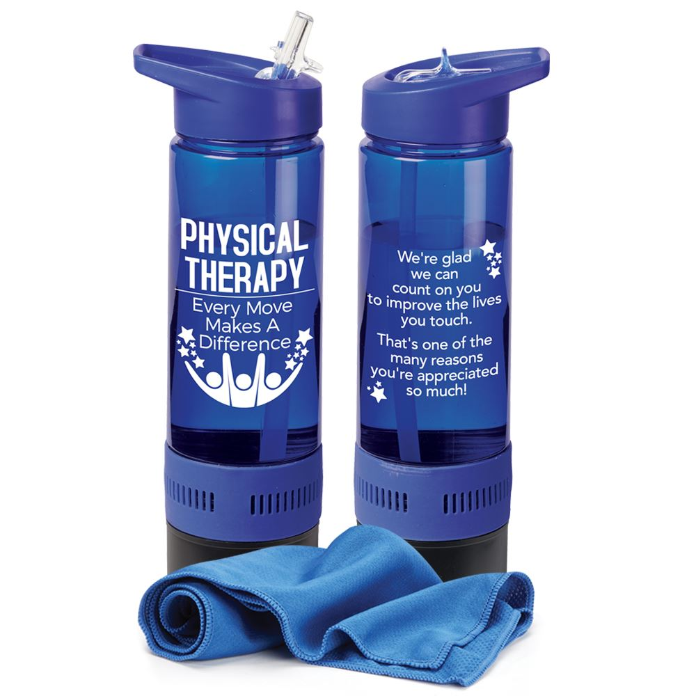 Physical Therapy: Every Move Makes A Difference Chill Bottle 17-Oz. With Cooling Towel
