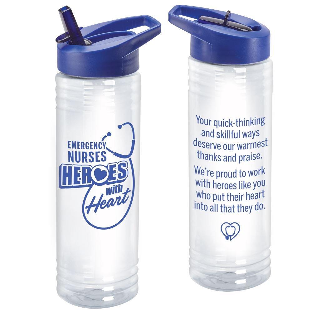Emergency Nurses: Heroes With Heart 24-oz. Solara Water Bottle