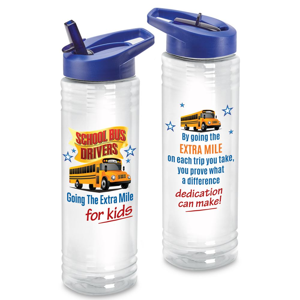 School Bus Drivers Going The Extra Mile For Kids Solara Water Bottle 24-Oz.