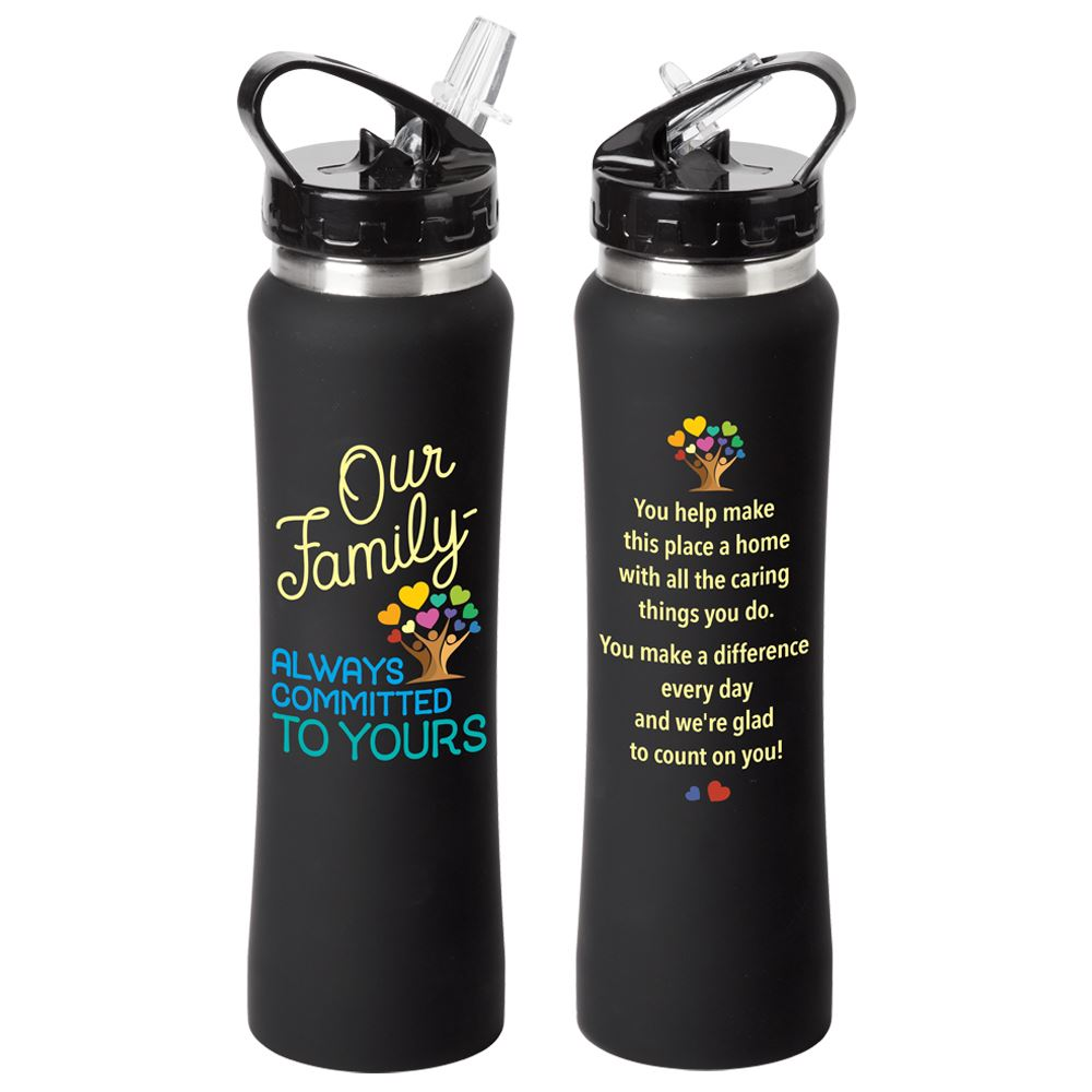 Our Family: Always Committed To Yours Lakewood Stainless Steel Water Bottle 25-Oz.