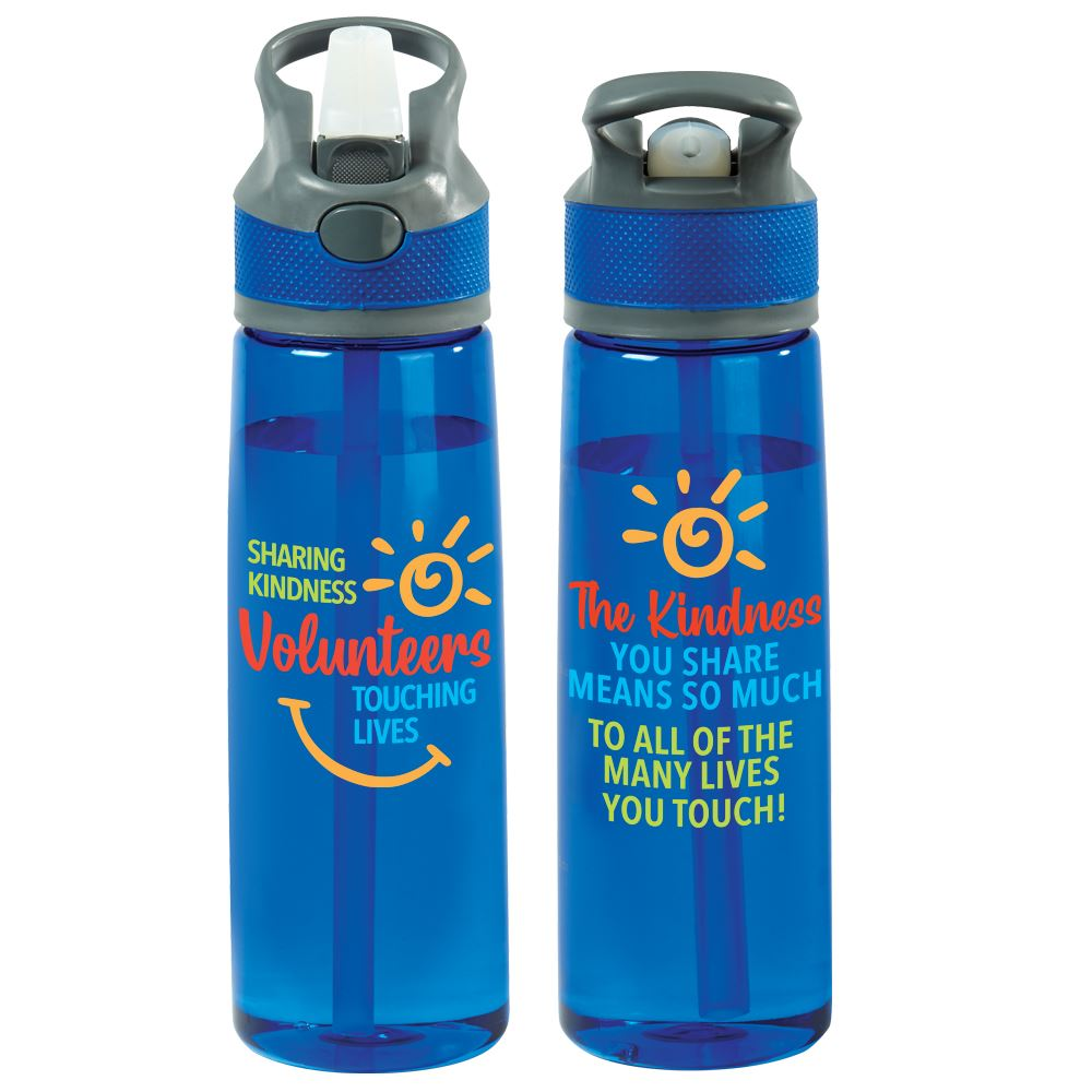 Volunteers: Sharing Kindness, Touching Lives Wellness Tritan Water Bottle 28-Oz.