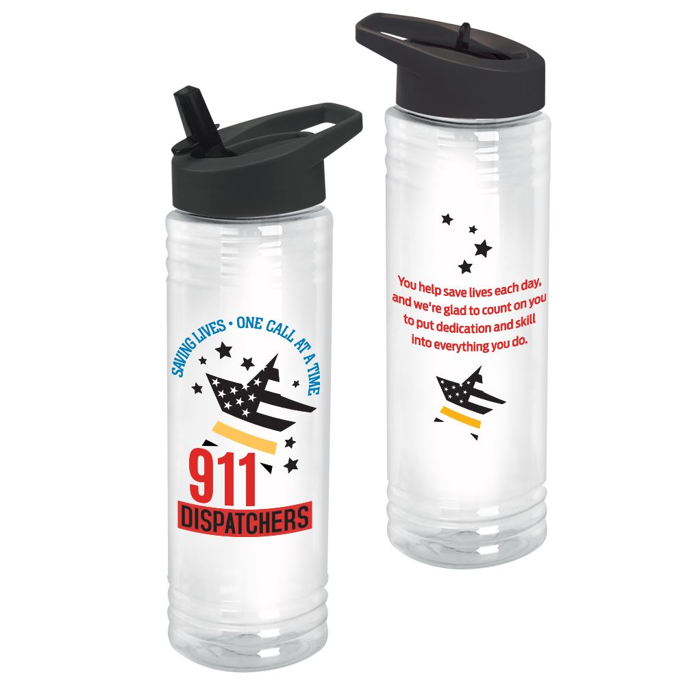 911 Dispatchers Saving Lives One Call At A Time Solara Water Bottle 24-Oz.