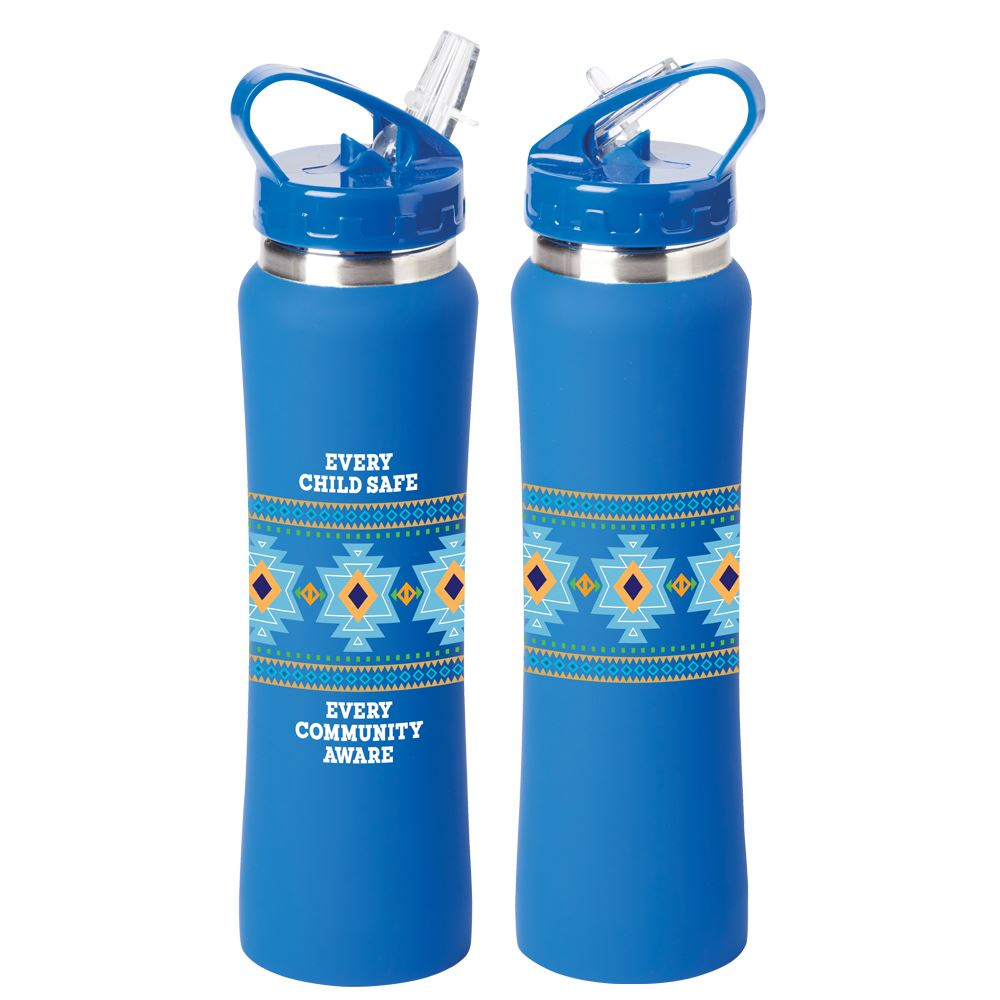 Every Child Safe, Every Community Aware Lakewood Stainless Steel Water Bottle 25-Oz.
