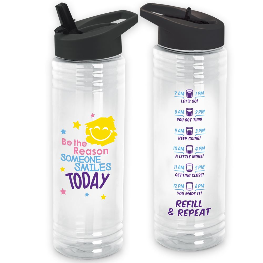 Be The Reason Someone Smiles Today Solara Water Bottle 24. Oz.