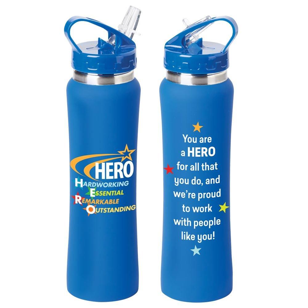 Hero: Hardworking, Essential, Remarkable, Outstanding Lakewood Stainless Steel Water Bottle 25-Oz.