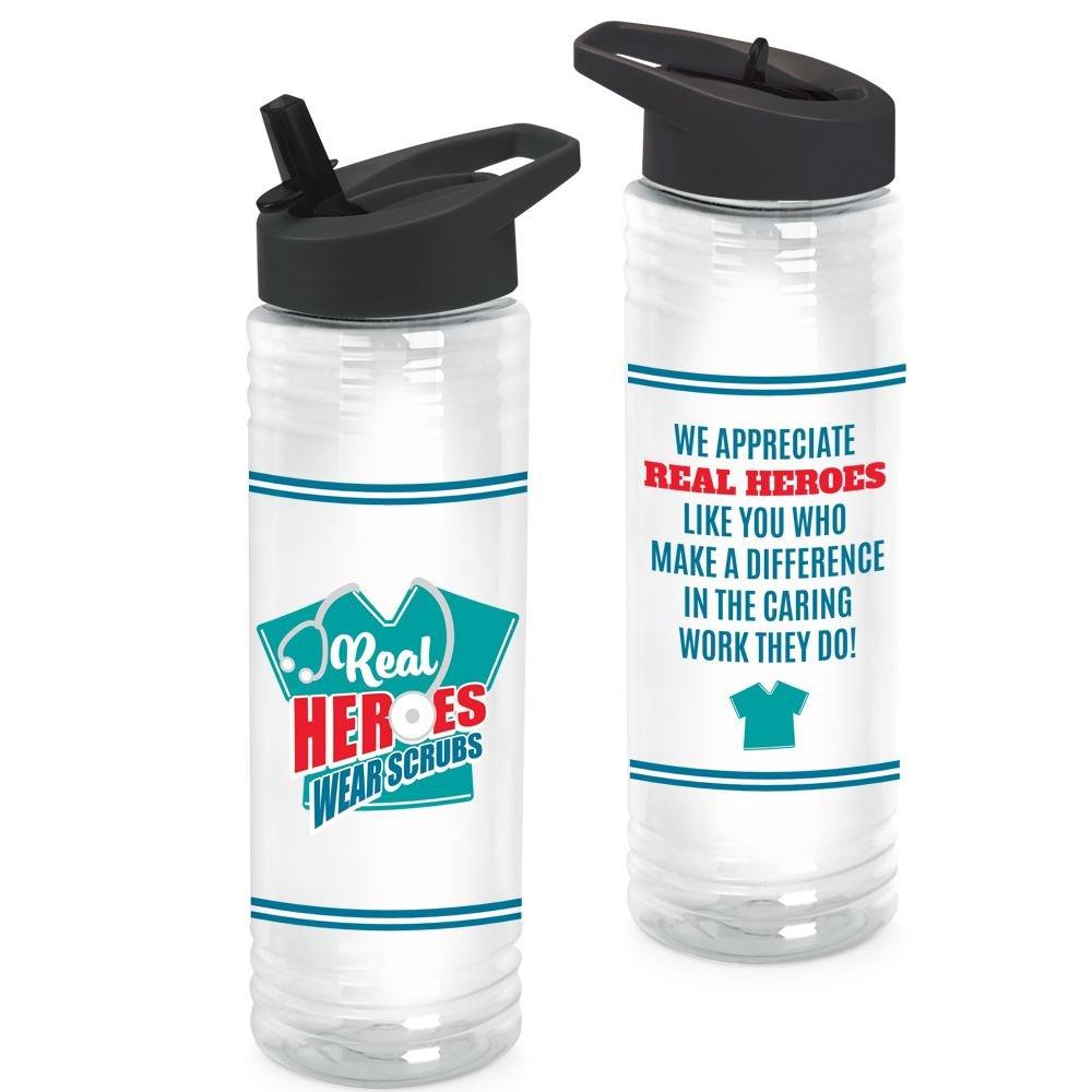 Real Heroes Wear Scrubs Solara Water Bottle 24-Oz.