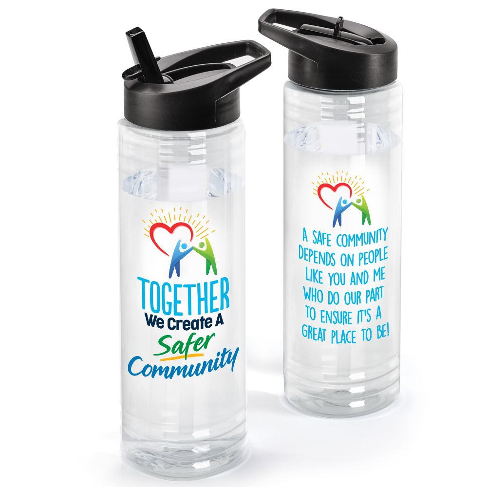 Together We Create A Safer Community Solara Water Bottle 24-oz.