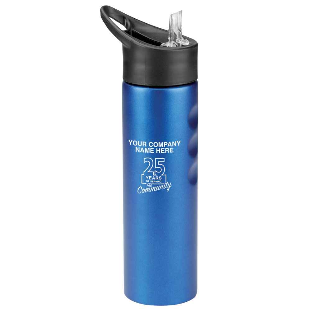25th Anniversary Blue Essex Stainless Steel Water Bottle 25-Oz. - Personalization Available