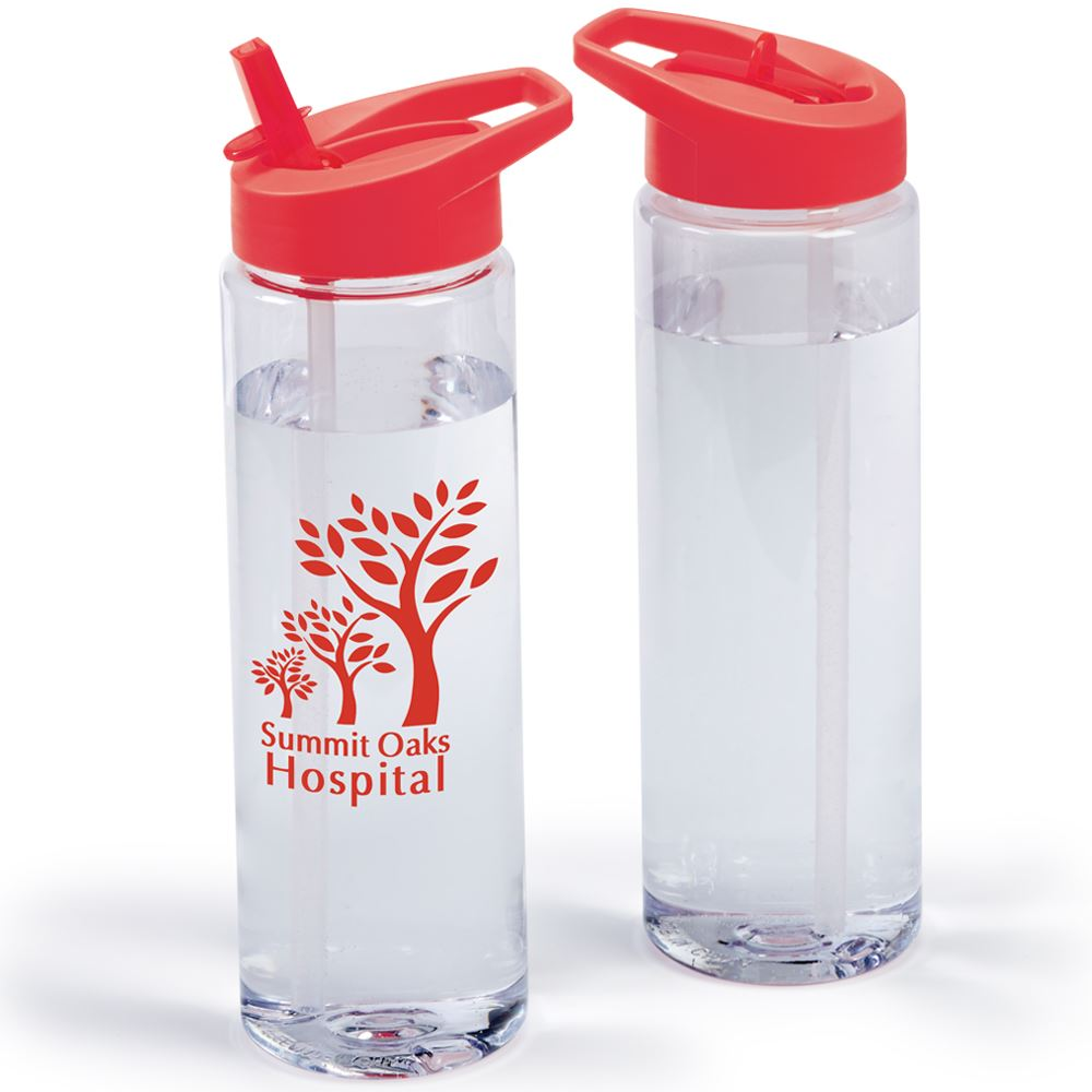 Solara Water Bottle 24-Oz. With Red Lid - Personalization Available