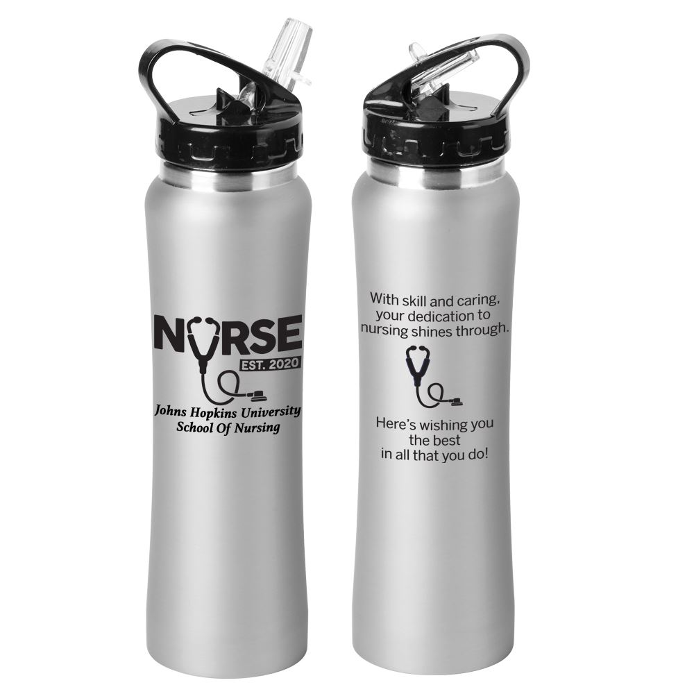 Nurse EST. 2020 Lakewood Stainless Steel Water Bottle 25-Oz.