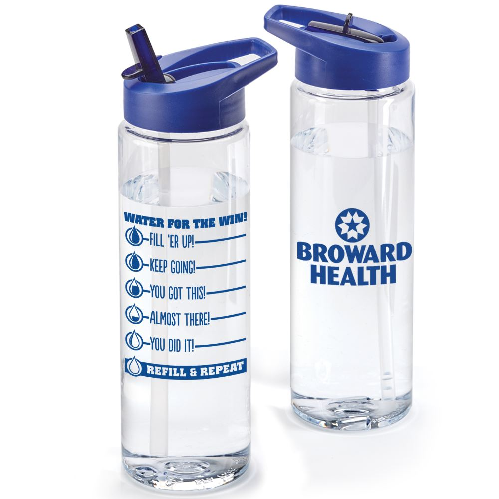 Water For The Win! Clear Solara Water Bottle 24-Oz. - Personalization Available