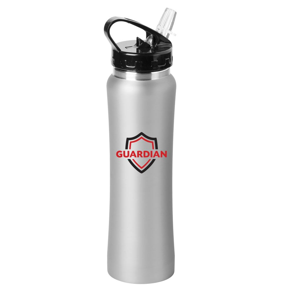 Gray Lakewood Stainless Steel Water Bottle 25-Oz. - Full Color Personalization Available