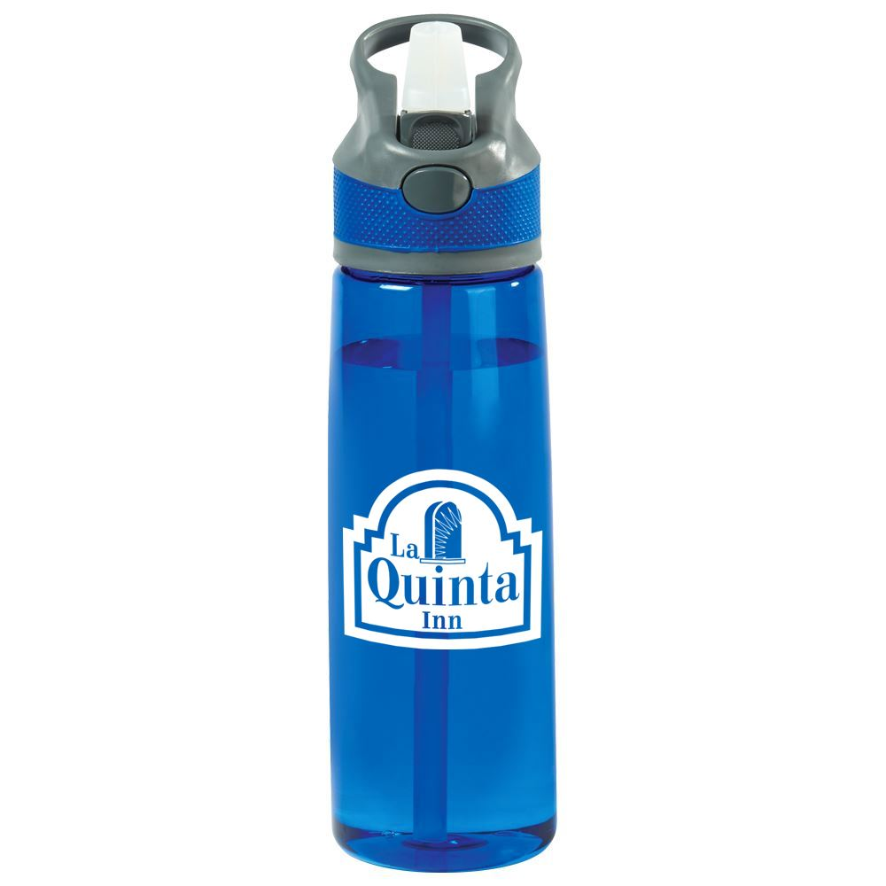 Wellness Blue Water Bottle 28-Oz. - Personalization Available