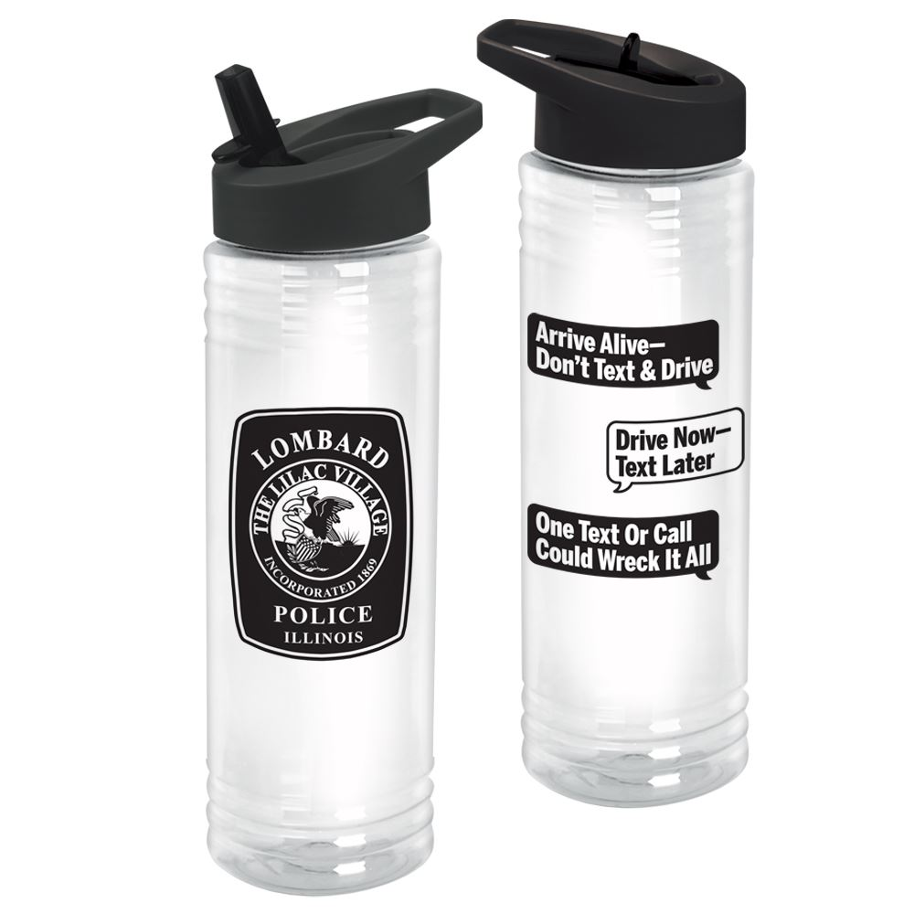 Texting and Driving Awareness Solara Water Bottle 24-Oz.