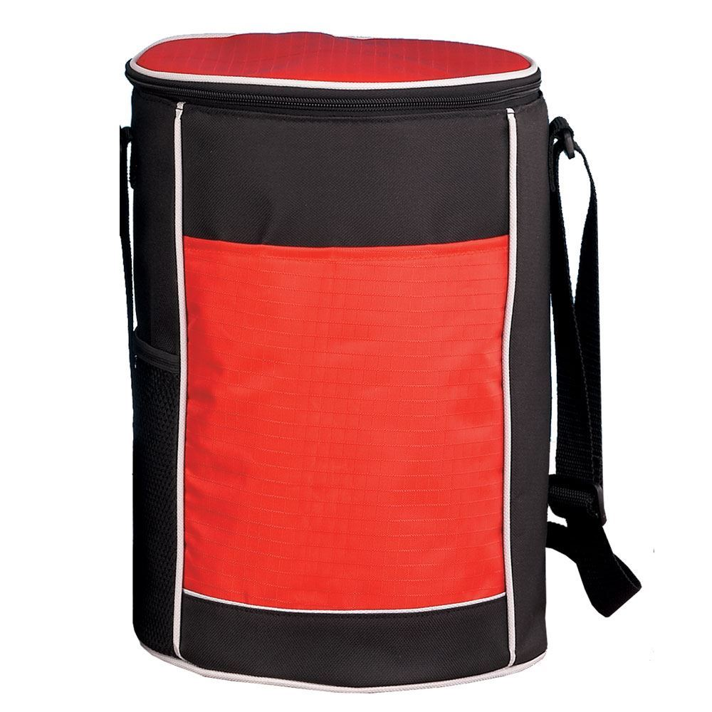 Red Round Insulated Cooler Bag