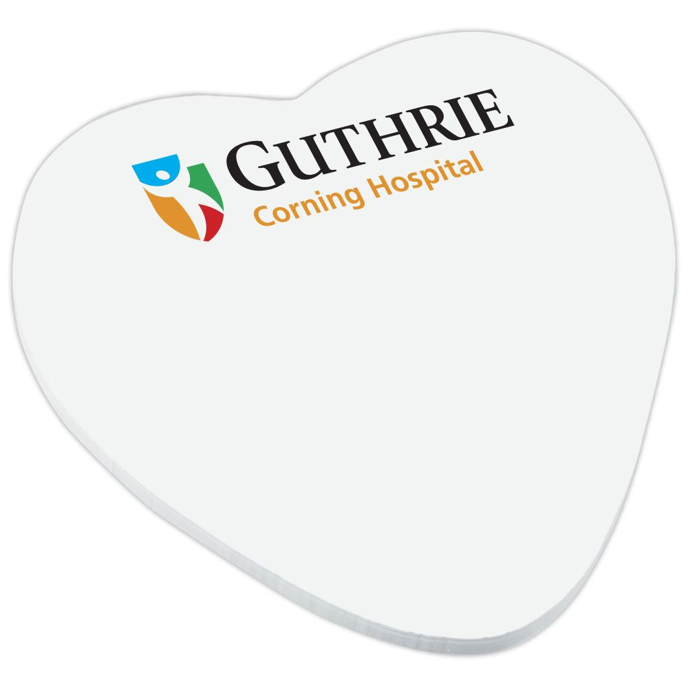 BIC Heart Adhesive Notepad - Personalization Available