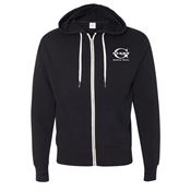 Independent Trading Co.® Unisex Heather French Terry Hooded Full-Zip Sweatshirt - Embroidery Personalization Available