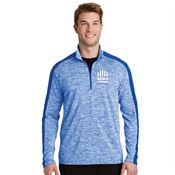 Sport-Tek® Men's PosiCharge® Electric Heather Colorblock Quarter-Zip Pullover - Personalization Available