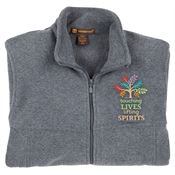 Touching Lives, Lifting Spirits Harriton® Full-Zip Fleece Jacket - Personalization Available