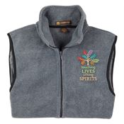 Touching Lives, Lifting Spirits Harriton® Full-Zip Fleece Vest - Personalization Available