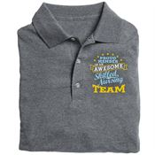 Proud Member Of An Awesome Skilled Nursing Team  Gildan® DryBlend Jersey Polo - Personalization Available