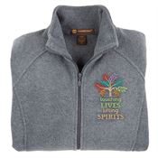 Touching Lives, Lifting Spirits Harriton® Fleece Full-Zip Women's Jacket - Personalization Available