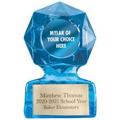 Premium Sculpted Sapphire Trophy - Personalization Available