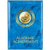 Academic Achievement Blue Marble Award Plaque