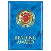 Reading Award Blue Marble Award Plaque