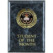Student Of The Month Black Marble Award Plaque