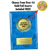 Blue Award Plaque - Personalization Available