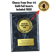 Black Award Plaque - Personalization Available